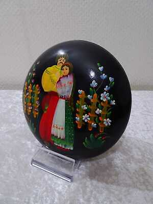 Russia Soviet Union Lacquer Box Miniature Painting Handmade Vintage Folk Art