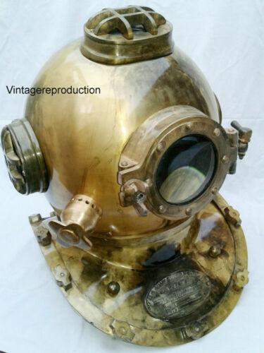 Antique Deep Sea Nautical Diving Helmet US Navy Deep SCA Vintage Scuba Divers