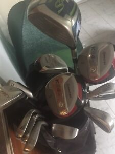 Men's left golf clubs bag and cart. 200.00great condition