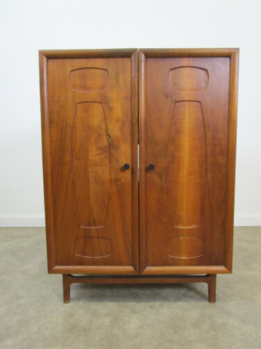 Mid century modern walnut stereo cabinet