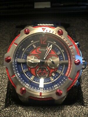 Invicta Marvel Spider-man 52 MM Bolt Limited Edition Chrono/1 Slot Dive Case