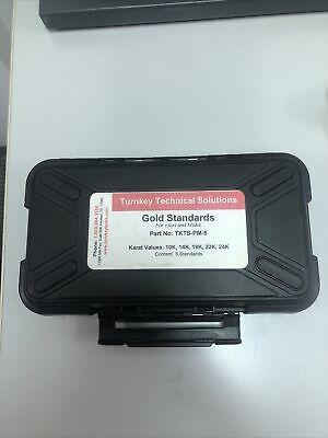 Set Certified Gold Standards Precious Metals Xrf - 24kt 22kt 18kt 14kt 10kt