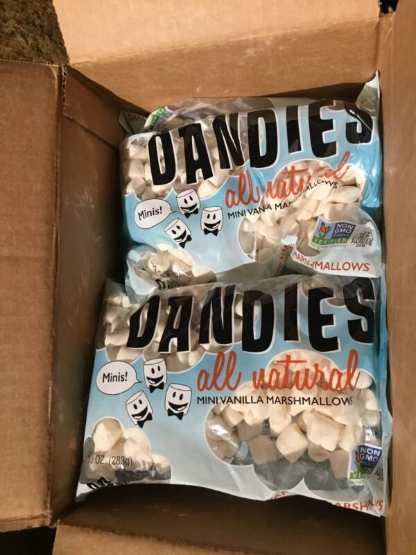 BOX Vegan Marshmallows Dandies Minis Vanilla CAMPING non perishable NON GMO