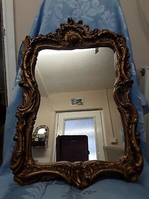 Vintage Plaster Frame Mirror Autentic Reproduction Louis XIV Made In  England .