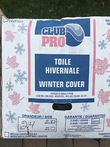 Toile a feuille hivernale 24 pieds