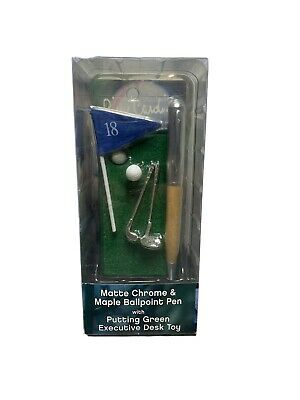 Pierre Cardin Malacite Green Acrylic Ballpoint Pen W Billiards Table Desk Toy