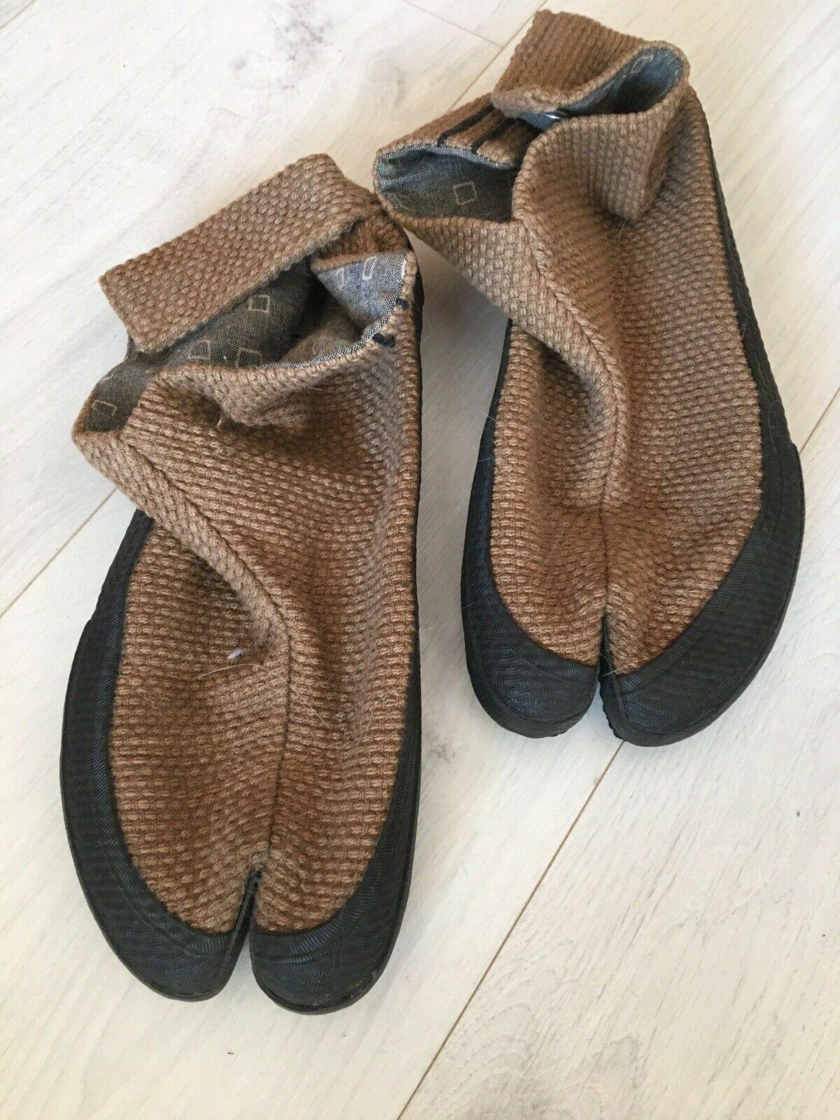 Sou Sou Japanische Ninja Schuhe Gr. 40, Stoff braun