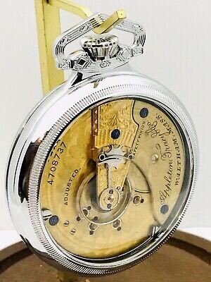 Stunning 1892 Waltham 18S 15J Appleton Tracy & Co. Pocket Watch Salesman Case