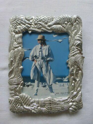 "Vtg Cast Aluminum Nautical Theme Picture Frame  4"" x 6"" Photo Macy"