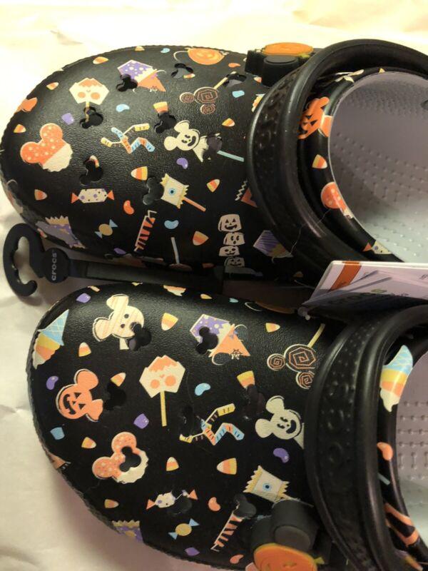 DISNEY Parks 2020 CROCS Light-Up Mickey Mouse Halloween Size Mens 9  Women 11