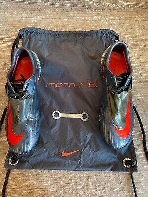 Nike Mercurial Vapor IV SG Charcoal / Max Berry UK 8 Football Boots & Bag Rare