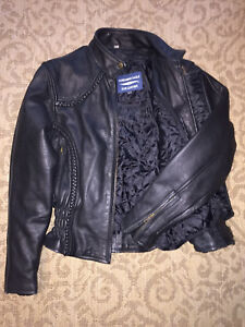 Child's leather motorcycle jacket