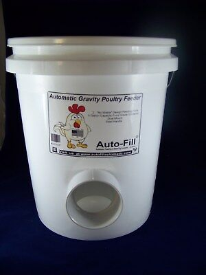 No  Waste  Automatic Chicken Hanging Gravity Feeder 5 Gallon - Made In Usa