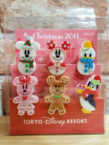 TOKYO Disney Resort GingerBread Snowman Christmas clip Ornament 2011  Japan