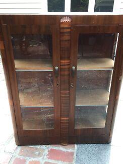 Antique sideboard display cabinet