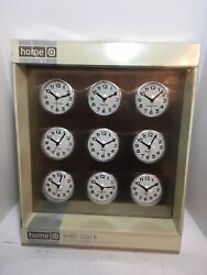 """World Time Zone Wall Clock 9 International Cities Stainless Steel 15.75"""""""