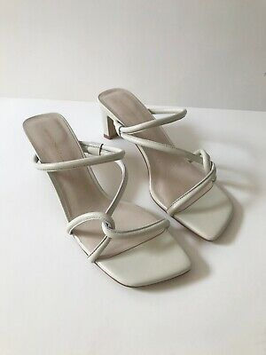 Intentionally Blank Willow Strappy Sandals/Heels in Cream Size 9/8.5 New w/ Box