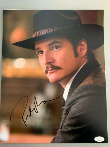 Kingsman Golden Circle Pedro Pascal Autographed Signed 11x14 Photo JSA COA
