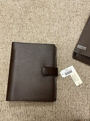 Authentic Louis Vuitton Agenda Binder Epi Leather Brown Day Planner Book Diary