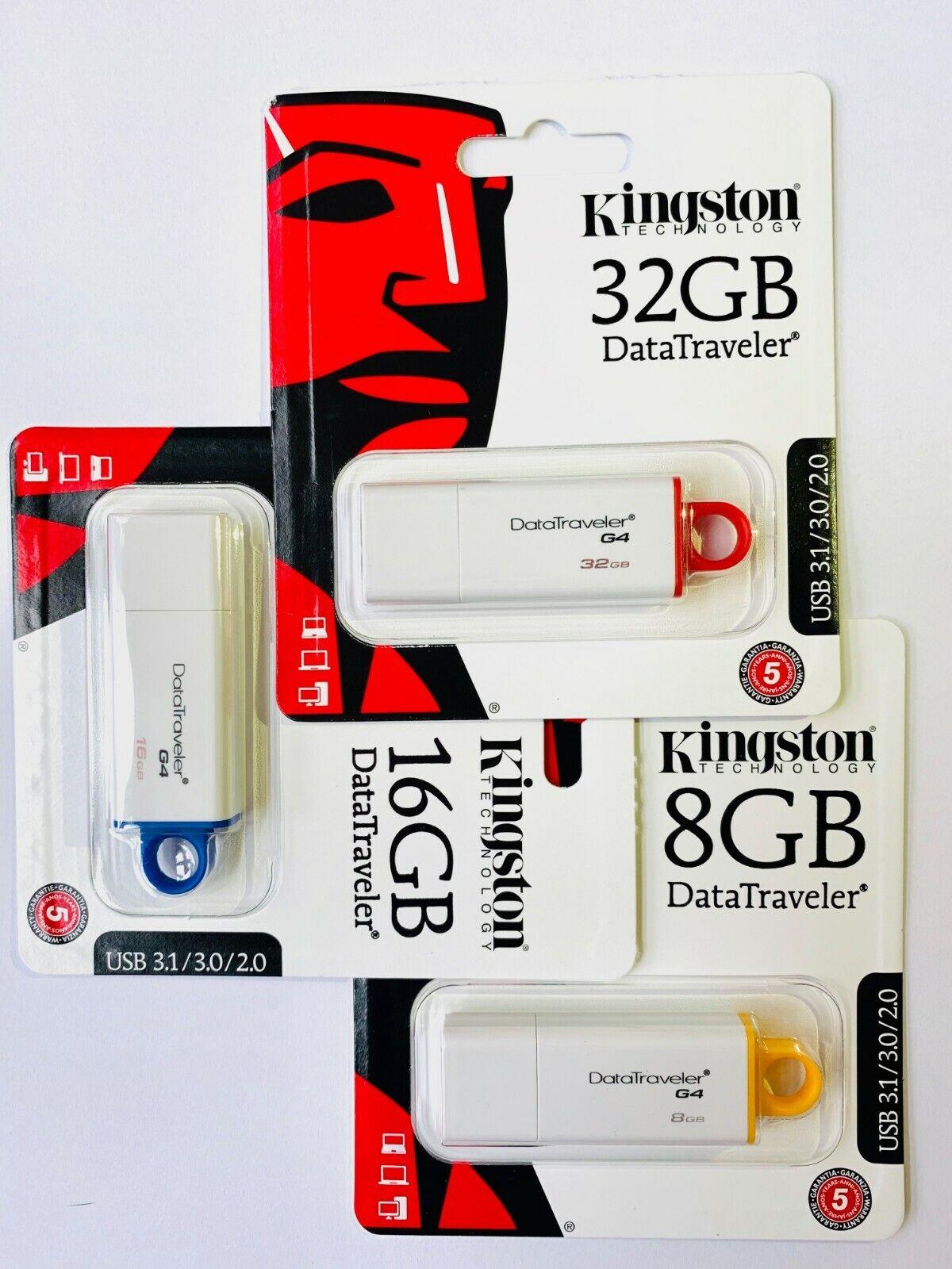Kingston DTIG4 DataTraveler 8GB 16GB 32GB USB 3.1/3.0/2.0 Fl