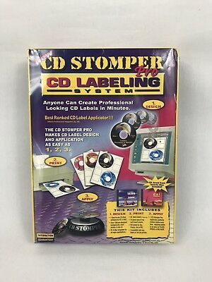 New Vtg 1999 Cd Stomper Pro Cddvd Labeling System New Sealed