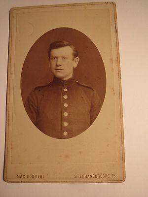 Magdeburg - Soldat in Uniform - Portrait / CDV