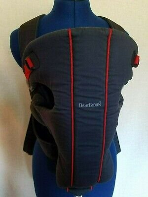 Baby Bjorn BabyBjorn Original Baby Carrier Classic Dark Blue Red Trim for sale  Shipping to Canada