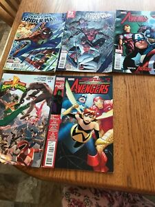 Lot of 5 avengers and Spider-Man comics