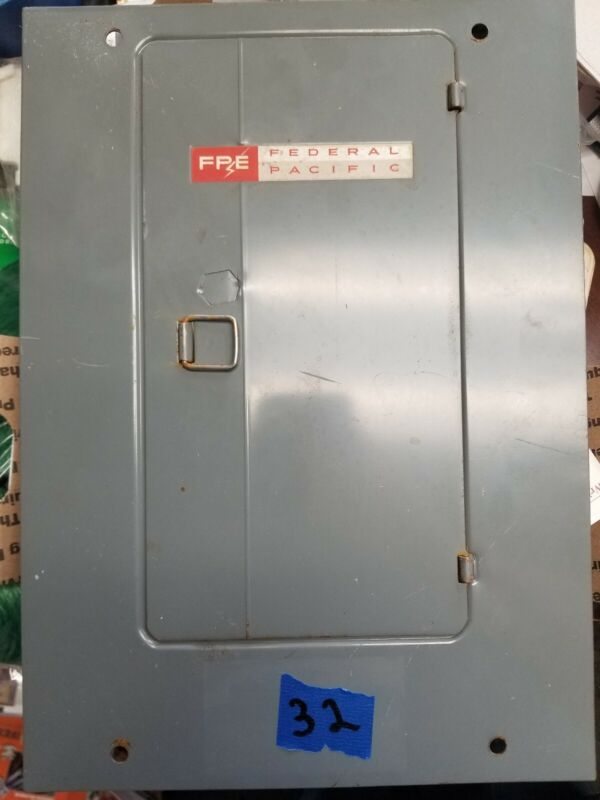 1306-12  FPE FEDERAL PACIFIC ELECTRIC Panel Board Cover 100 125 AMP 20 Circuit