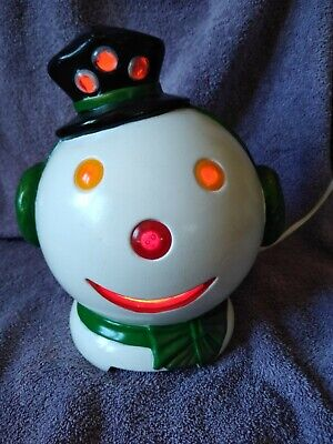 Vintage ceramic light up Ceramic Snowman Head