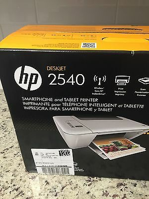 Brand New HP Deskjet 2540 Wireless All-In-One Color Inkjet Printer w/Inks (Hp Inkjet 2540 All In One Printer)
