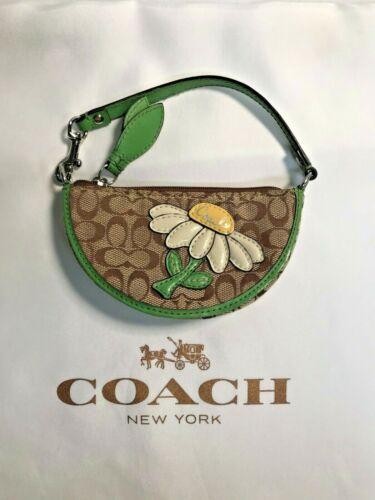 Vintage Coach Daisy Coin Purse Key Chain Wristlet