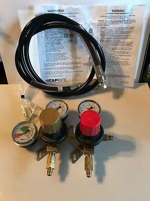 Taprite T752hp Two Product Dual Pressure Kegerator Co2 Regulator