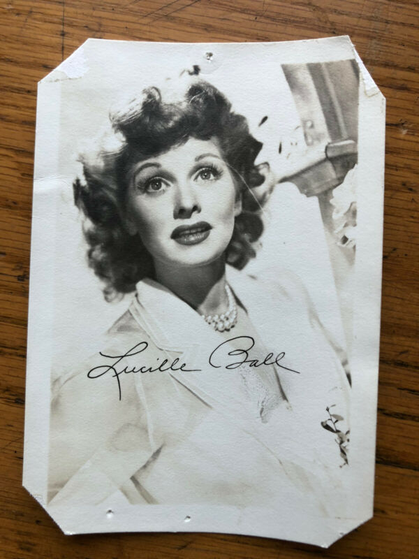 """Lucille Ball """"Signed"""" Photo 1940s"""