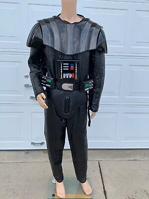 Darth Vader Star Wars costume pleather Suit By Rubies with gloves and cod Piece