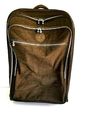 Kipling Rolling Suitcase Wheels Extendable Handle Luggage Large 28x18x10 Brown