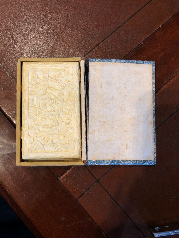 Antique Chinese Card Case W/ Case Circa. 1890 Appraised @ Antique Road Show '19