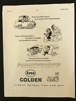 Vintage 1961 Motor Sport Magazine Advert - Esso Golden Petrol, Fuel, Oil, Garage - golden esso - ebay.co.uk