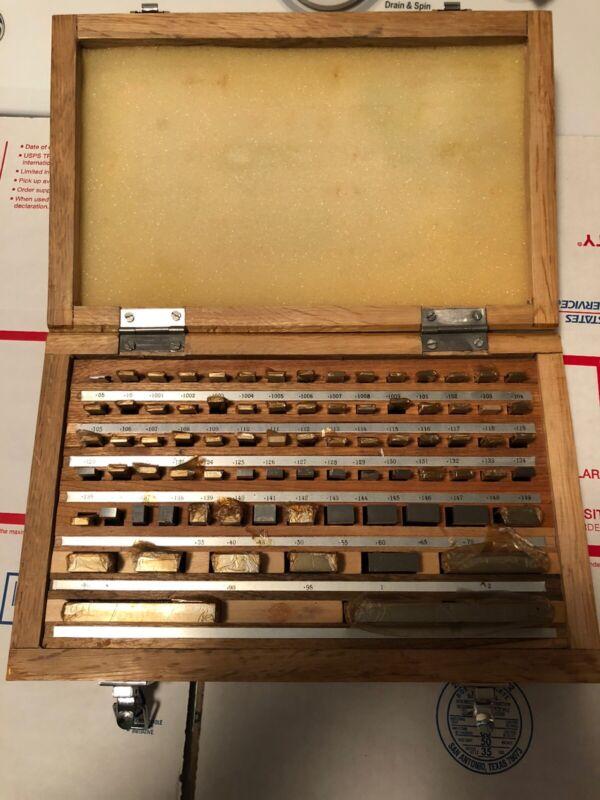 MHC rectangular gage block. 81 piece set in excellent condition.