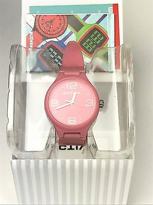NEW Activa by Invicta Unisex AA101-002 Baby Pink Dial Polyurethane Watch NO BATT