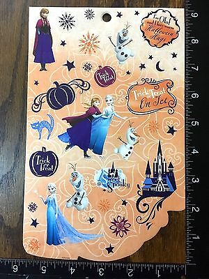 FROZEN HALLOWEEN BY DISNEY, ANNA, ELSA AND OLAF, ONE SHEET STICKERS #DULCE8 - Anna And Elsa Halloween