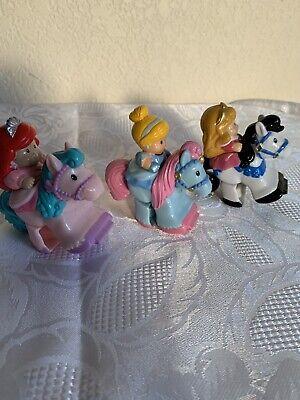 Fisher Price LITTLE PEOPLE Lot Of 3 KLIP KLOP Horses Disney PRINCESSES