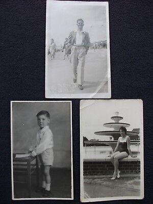 "OLD PHOTOS BLACK AND WHITE 5 ½"" x 3 ½"" x 3 ORIGINAL PHOTOS"