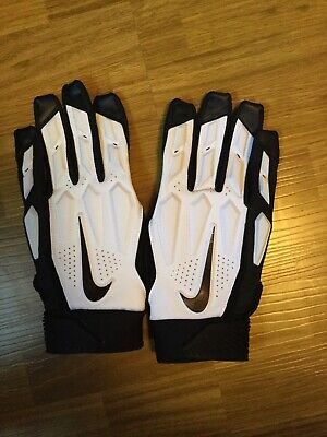 wholesale dealer a2d61 b3469 NIKE D-TACK 6.0 WHITE   BLACK STYLE Padded LINEMAN GLOVES Size 3XL BRAND NEW