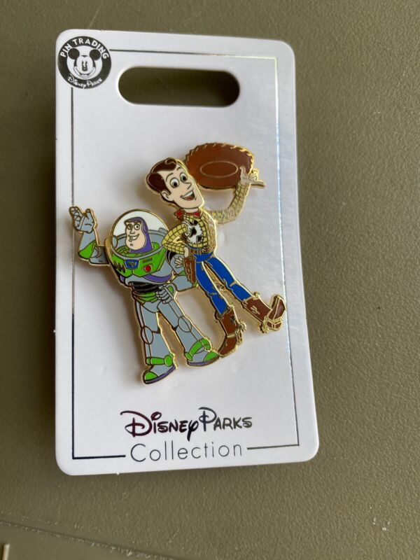 Disney Toy Story Woody And Buzz Lightyear Pin Waving
