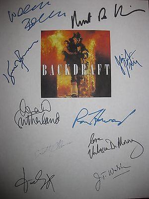 Backdraft Signed Film Script X10 Kurt Russell Robert De Niro Ron Howard Leigh rp