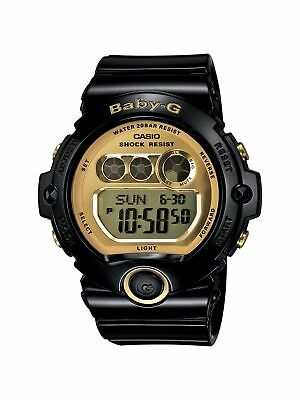 Casio Women's BG6901-1 Baby-G Black Resin and Gold-Tone Accented