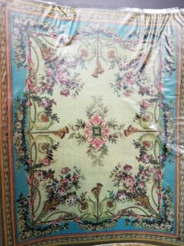 """1:12 Dollhouse size! Artist made Lovely Floor Covering! New  7"""" x 8-3/4"""" c89"""