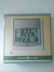 Howard Miller 625-235 Techtime Radio-Controlled LCD Wall/Table Alarm Clock Used