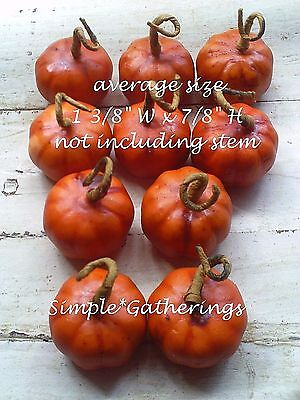 Artificial Pumpkins 10 Halloween Harvest Fall Bowl Fillers 1 3/8